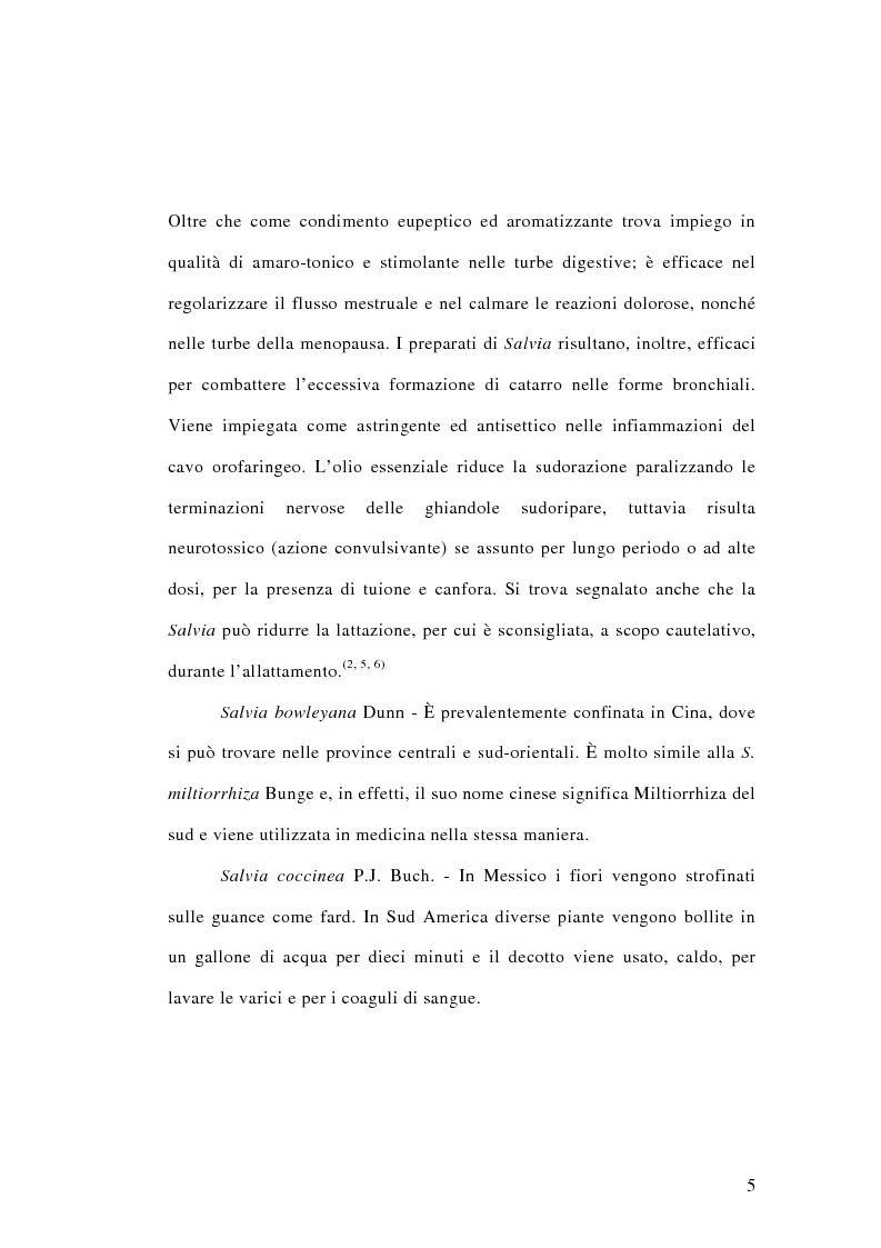 Anteprima della tesi: Salvia miltiorrhiza: aspetti botanici, fitochimici e biologici, Pagina 5