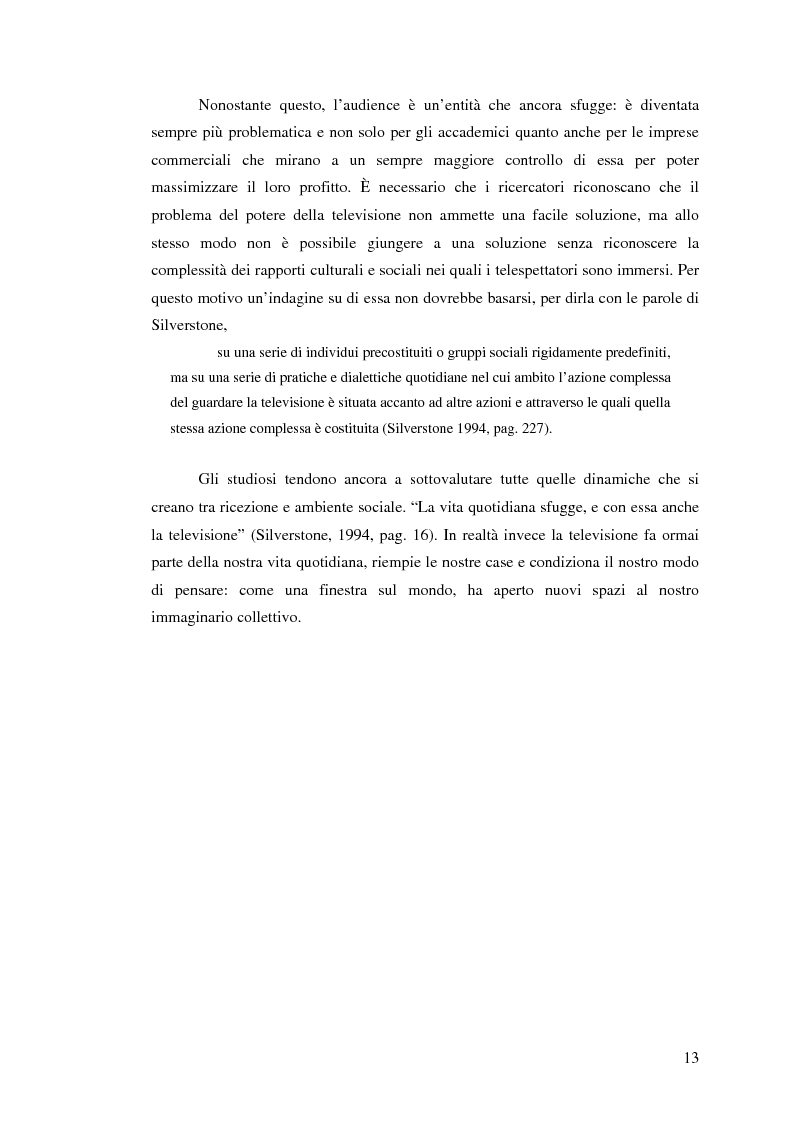 Anteprima della tesi: Osservare chi guarda. Il medium televisivo negli studi di antropologia culturale, Pagina 13