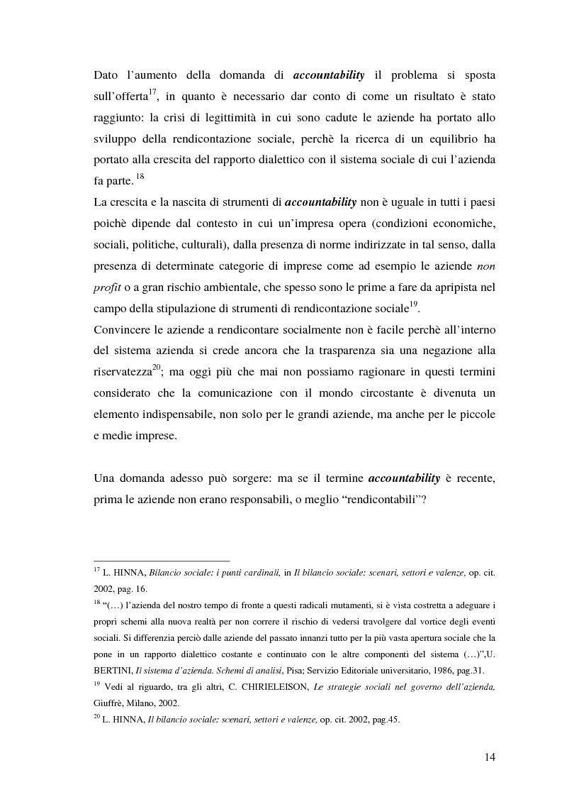 Anteprima della tesi: La responsabilità sociale nel processo di comunicazione esterna: il caso Coop, Pagina 14