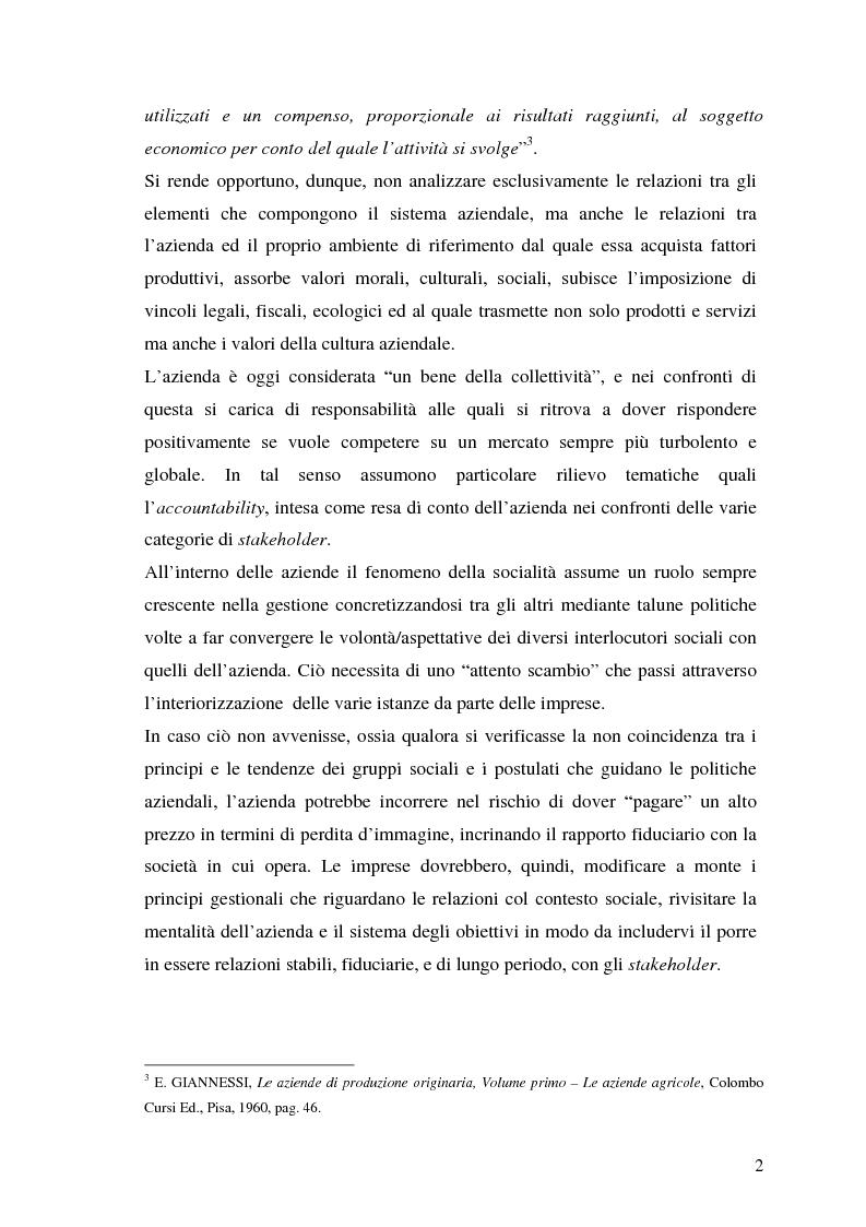 Anteprima della tesi: La responsabilità sociale nel processo di comunicazione esterna: il caso Coop, Pagina 2