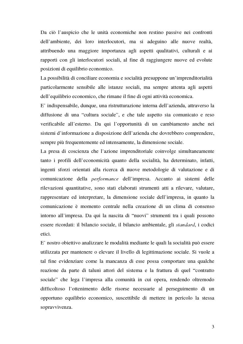 Anteprima della tesi: La responsabilità sociale nel processo di comunicazione esterna: il caso Coop, Pagina 3