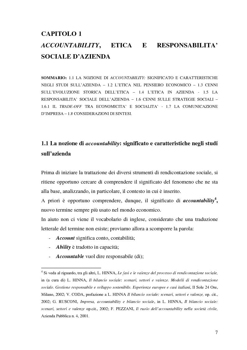 Anteprima della tesi: La responsabilità sociale nel processo di comunicazione esterna: il caso Coop, Pagina 7