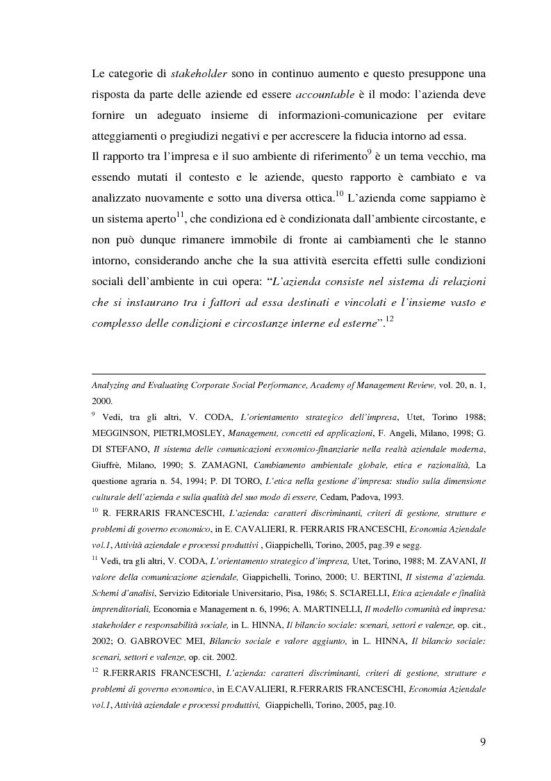 Anteprima della tesi: La responsabilità sociale nel processo di comunicazione esterna: il caso Coop, Pagina 9