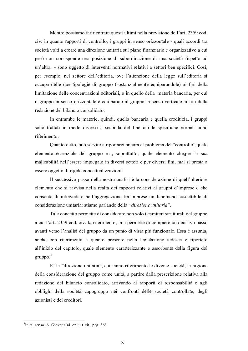 Anteprima della tesi: La tassazione dei gruppi di società secondo la disciplina italiana: il consolidato nazionale, Pagina 8