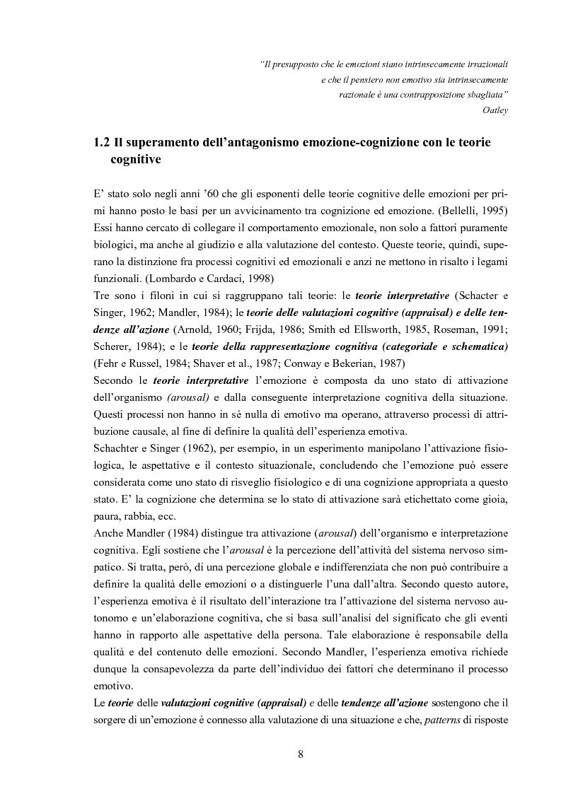 Anteprima della tesi: Emozioni al lavoro: uno studio nella ASL NA 5, Pagina 6