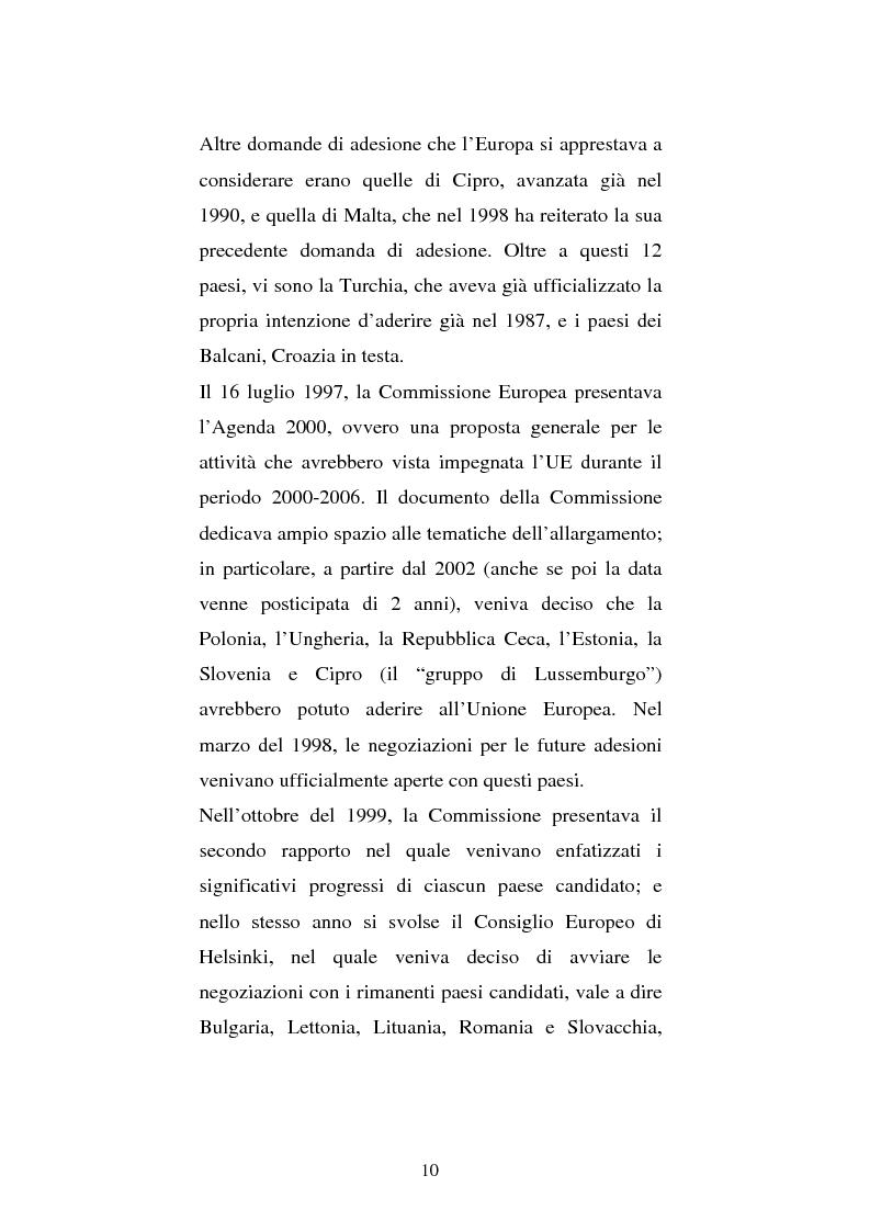 Anteprima della tesi: L'allargamento dell'Unione Europea: problematiche fiscali, Pagina 5