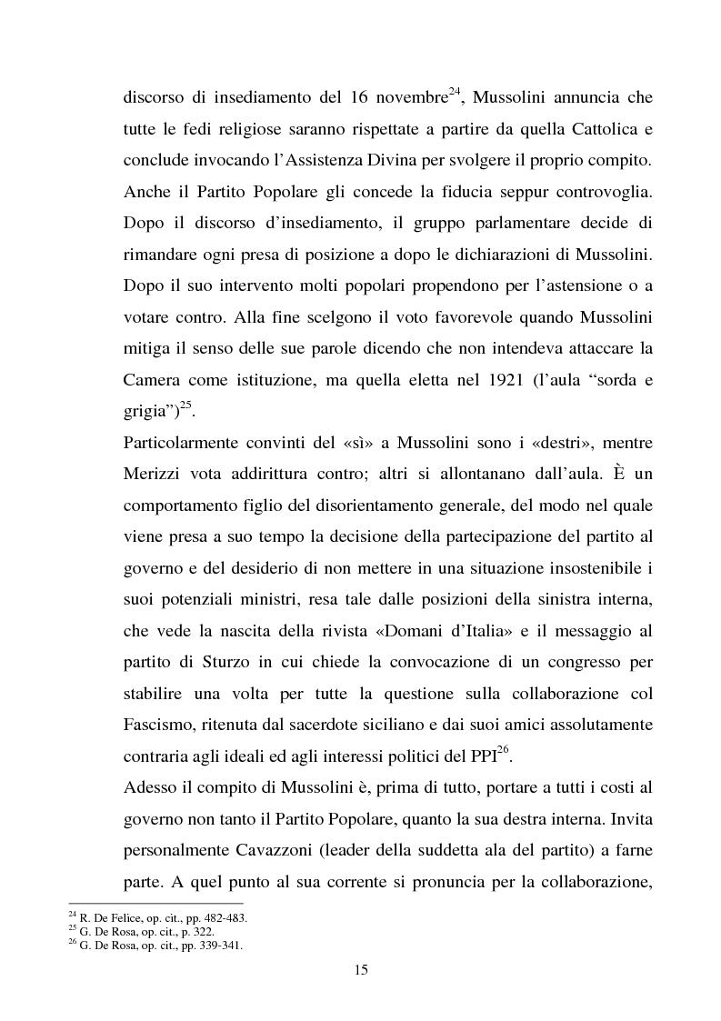 Anteprima della tesi: La difficile Conciliazione. I rapporti Italia-Santa Sede dal 1922 al 1929, Pagina 15