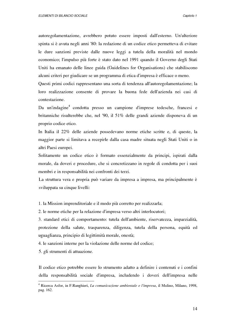 Anteprima della tesi: Elementi di bilancio sociale, Pagina 9