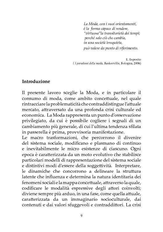 Anteprima della tesi: Crisi dei Consumi e Nuovi Scenari. Il Factory Outlet come strategia di contenimento, Pagina 1