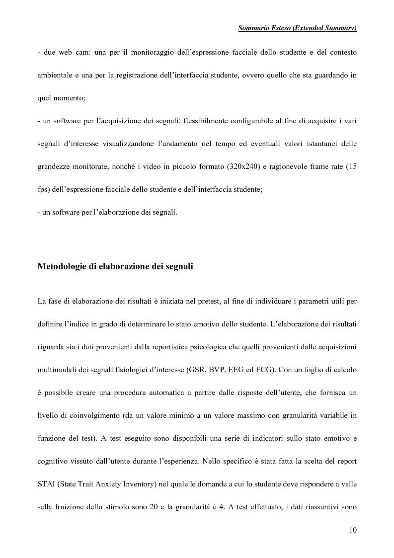 Anteprima della tesi: Metodologie di elaborazione e fusione di segnali biologici per applicazioni di e-learning, Pagina 6