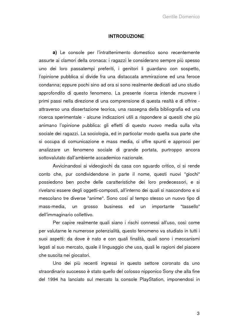 Anteprima della tesi: Il Medium ludico, socializzazione e rappresentazione tra schermo e console, Pagina 1