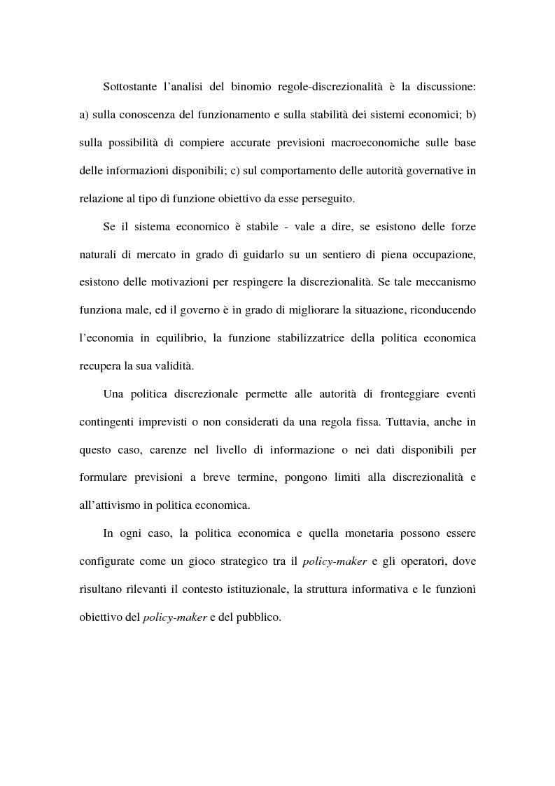 Anteprima della tesi: Approcci alternativi all'Unione Monetaria Europea - Relazioni possibili tra Paesi In e Paesi Oot, Pagina 7