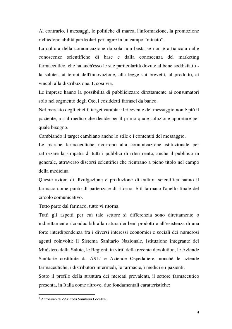 Anteprima della tesi: Il marketing farmaceutico, Pagina 6