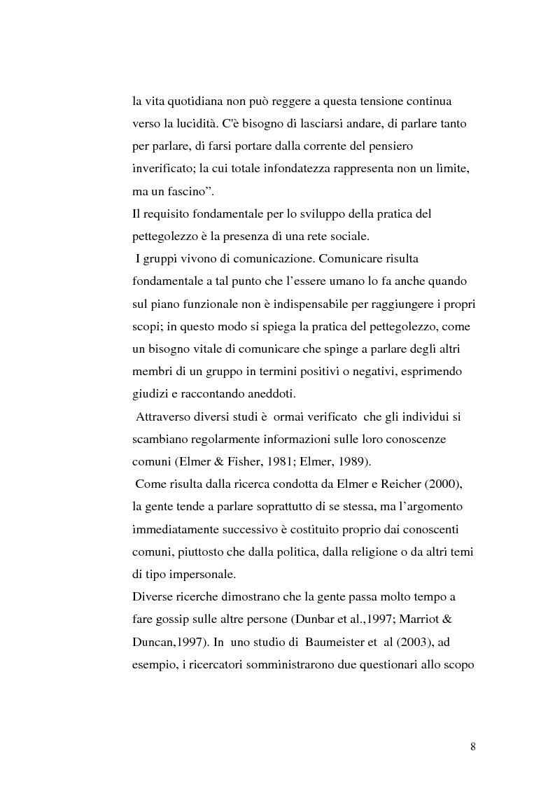 """Anteprima della tesi: Il gossip """"al femminile"""" come diretta conseguenza del sessismo ambivalente, Pagina 6"""