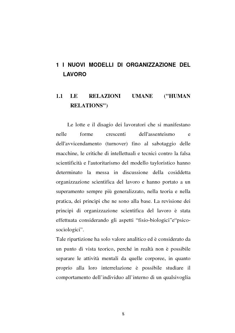 Anteprima della tesi: Il ruolo del management nell'analisi e nella creazione del clima organizzativo:il caso Asystel, Pagina 6