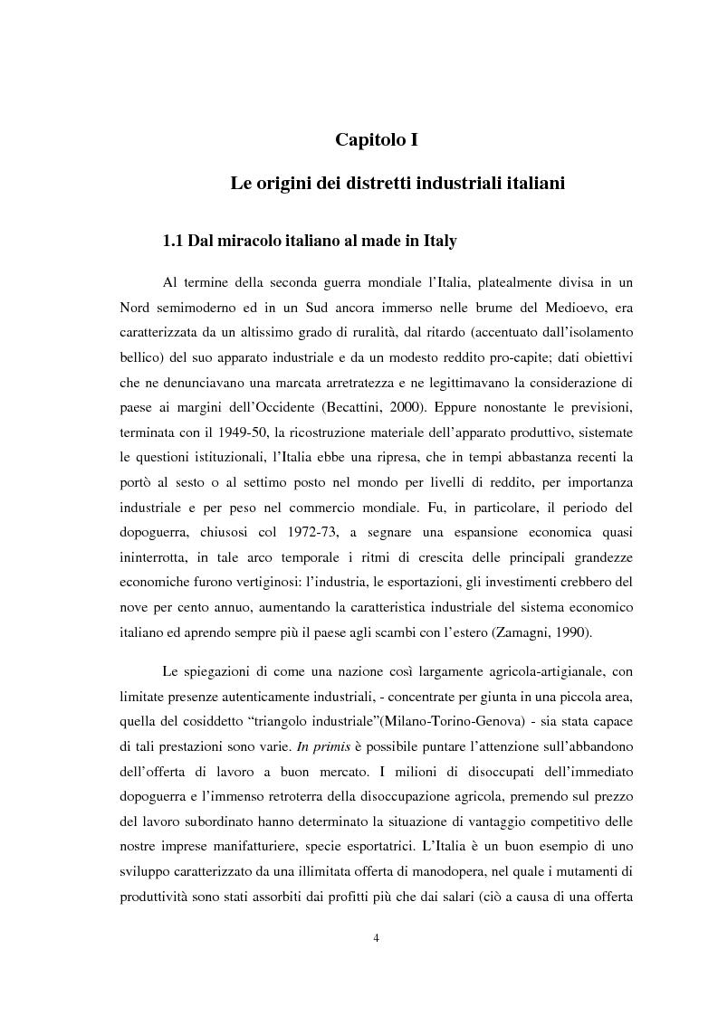 Anteprima della tesi: Il ruolo della conoscenza nei processi di internazionalizzazione dei distretti industriali, Pagina 1