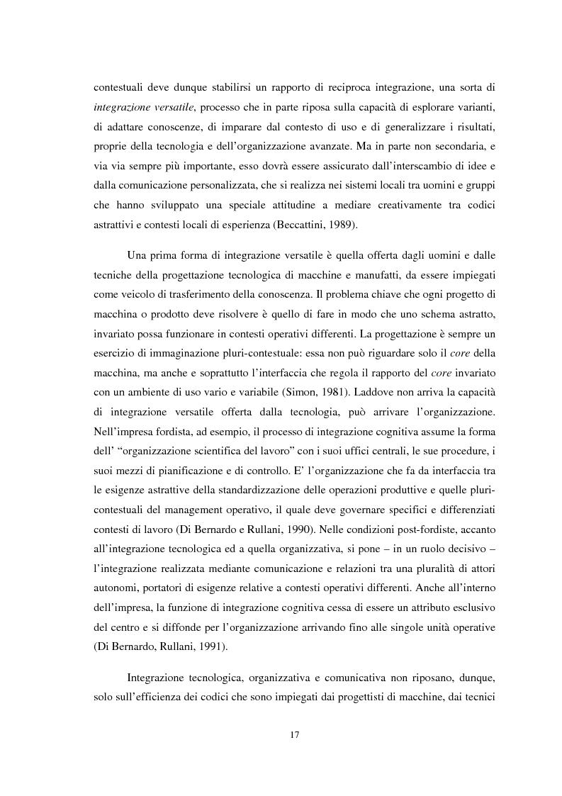 Anteprima della tesi: Il ruolo della conoscenza nei processi di internazionalizzazione dei distretti industriali, Pagina 14