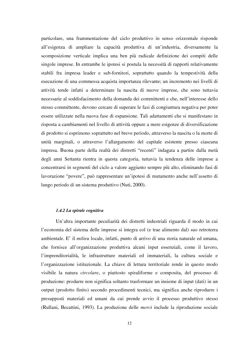 Anteprima della tesi: Il ruolo della conoscenza nei processi di internazionalizzazione dei distretti industriali, Pagina 9
