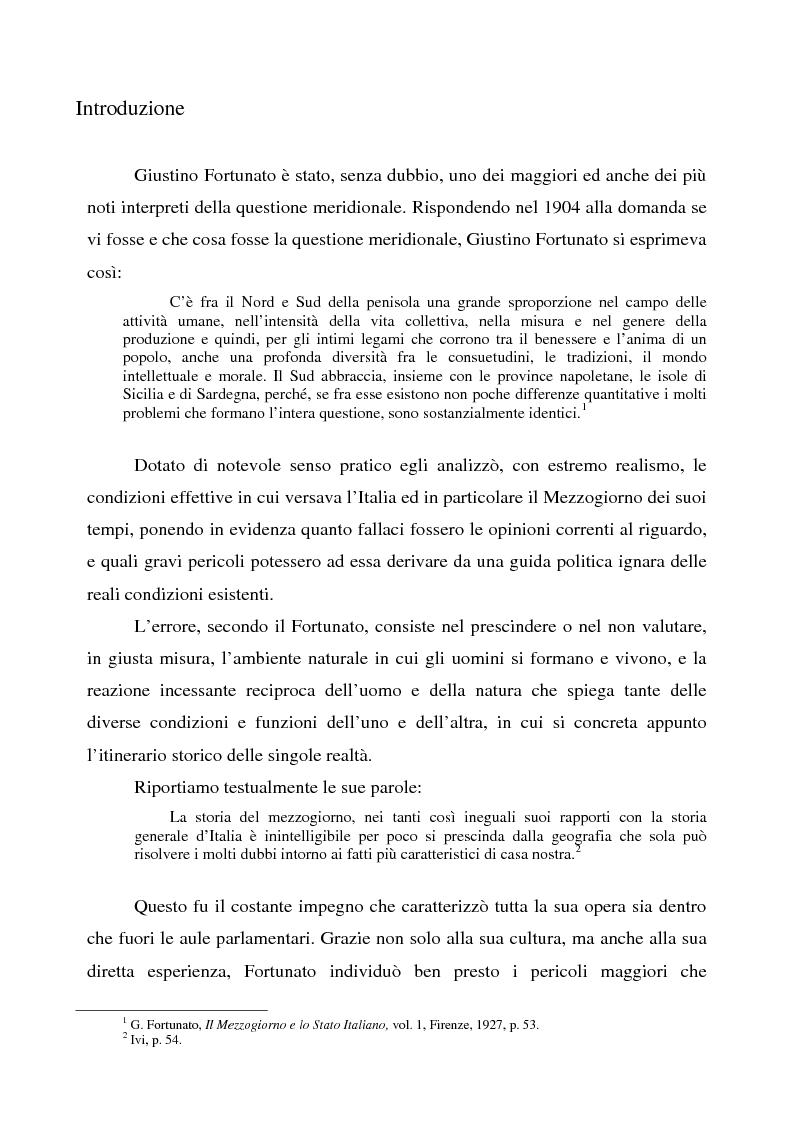 Giustino Fortunato, medioevalista - Tesi di Laurea