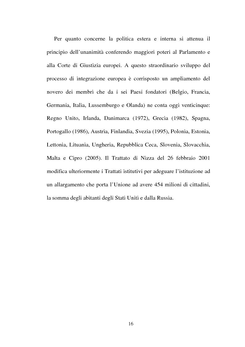 Anteprima della tesi: I non temi della campagna elettorale europea - le rappresentazioni mediali e politiche dell'istituzione europea, Pagina 11