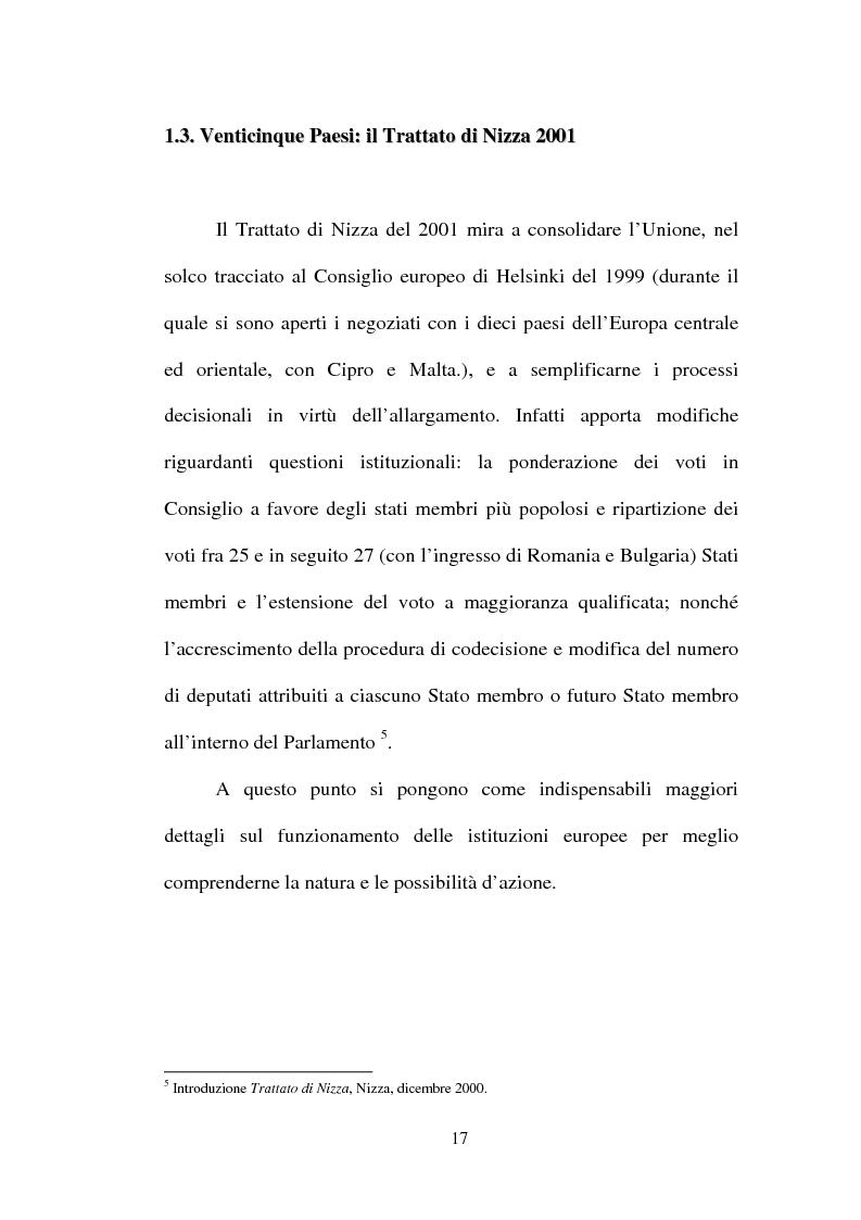 Anteprima della tesi: I non temi della campagna elettorale europea - le rappresentazioni mediali e politiche dell'istituzione europea, Pagina 12