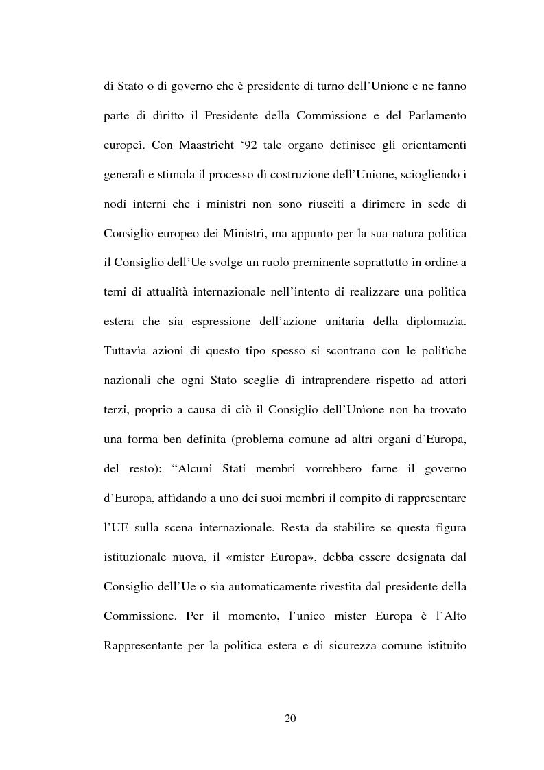 Anteprima della tesi: I non temi della campagna elettorale europea - le rappresentazioni mediali e politiche dell'istituzione europea, Pagina 15