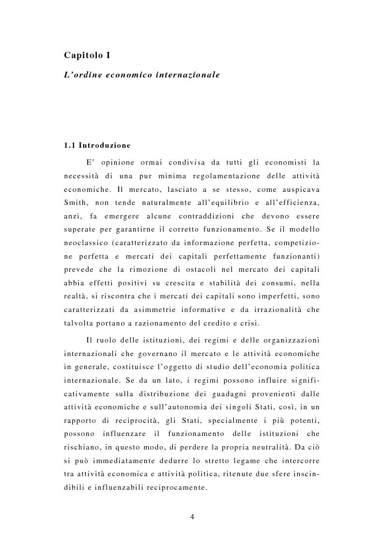 Anteprima della tesi: Il sistema di voting negli organismi economici interazionali, Pagina 1