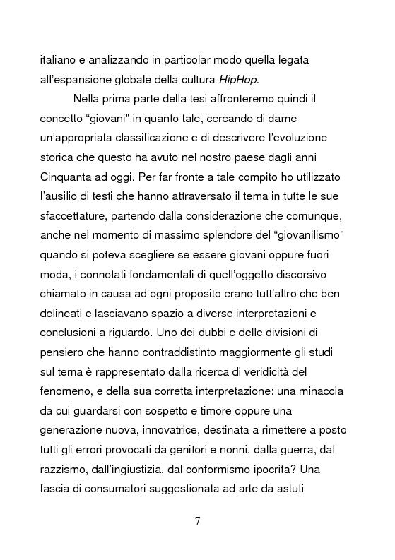 Anteprima della tesi: Underground & Commercial. Etnografia dei diversi volti dell'HipHop a Roma., Pagina 2