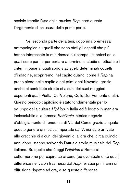 Anteprima della tesi: Underground & Commercial. Etnografia dei diversi volti dell'HipHop a Roma., Pagina 6