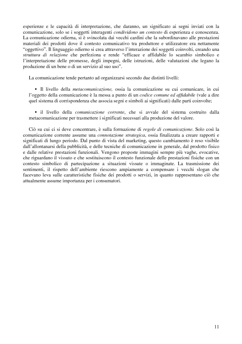 Anteprima della tesi: L'efficacia della pubblicità: obiettivi e modelli di misurazione, Pagina 8