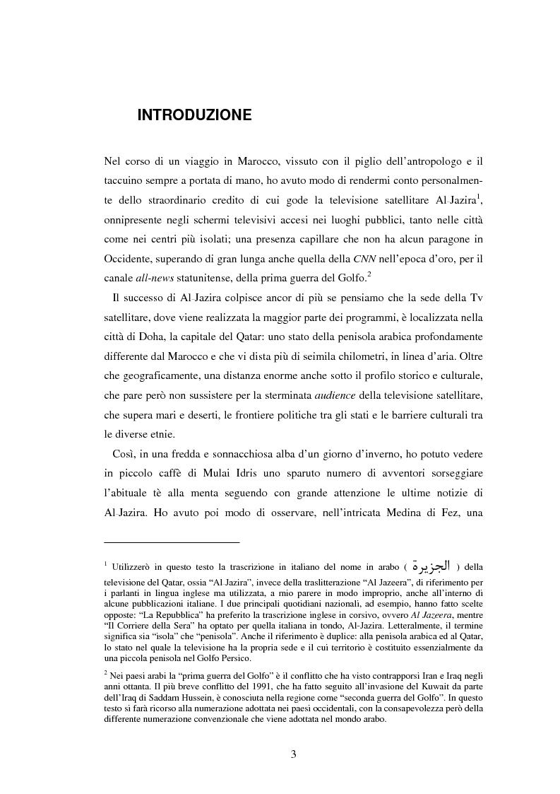 Anteprima della tesi: Lo sguardo di Al-Jazira. L'agenda setting e il concetto di notizia per la televisione satellitare che ha rivoluzionato il giornalismo arabo, Pagina 2