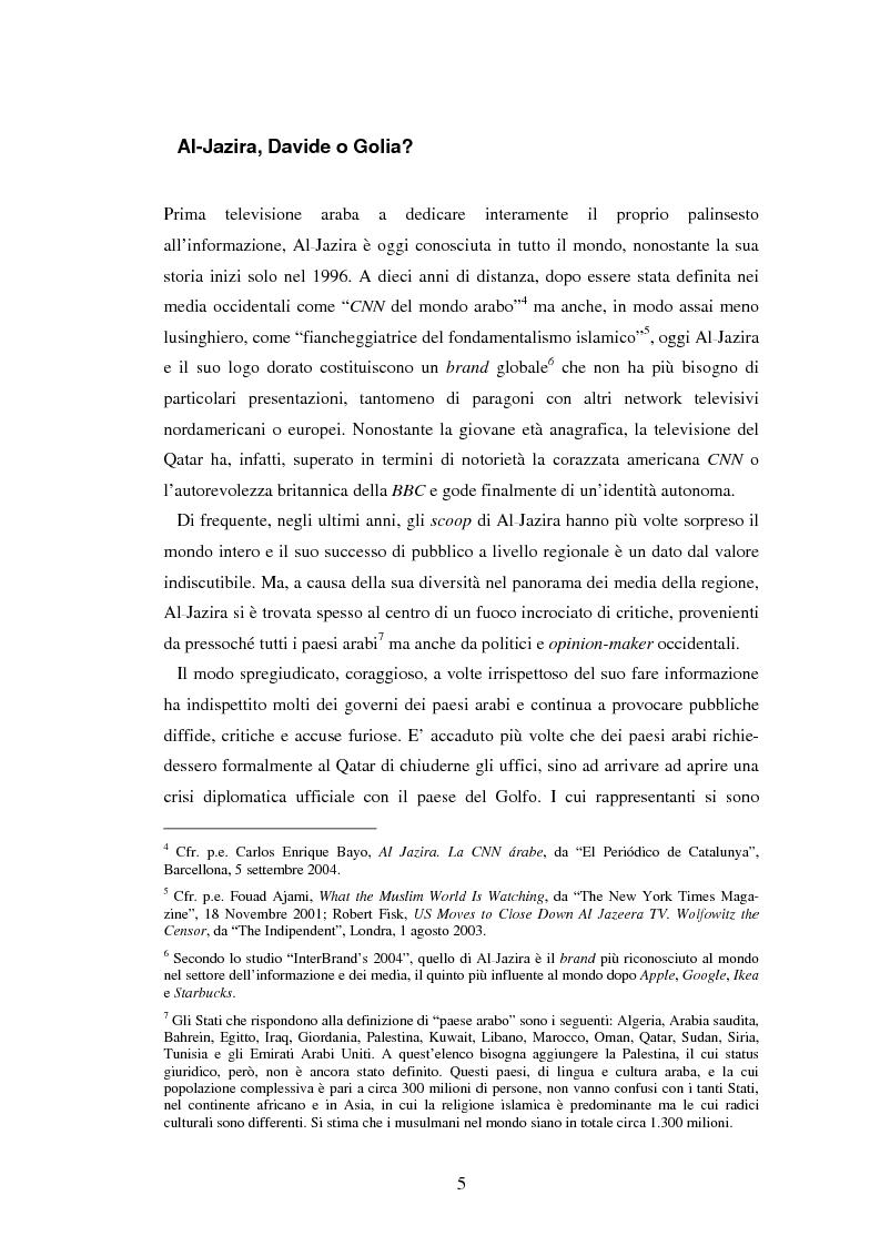 Anteprima della tesi: Lo sguardo di Al-Jazira. L'agenda setting e il concetto di notizia per la televisione satellitare che ha rivoluzionato il giornalismo arabo, Pagina 4