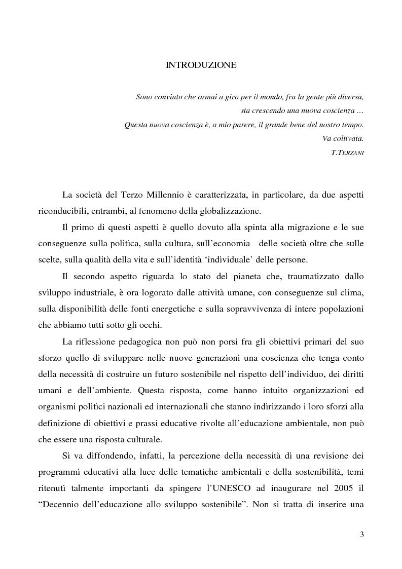 Anteprima della tesi: Dall'educazione ambientale all'educazione sostenibile: l'Eco-School, Pagina 1