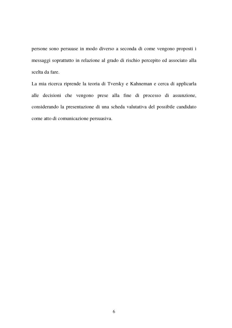 Anteprima della tesi: Assunzioni basate sull'acquisizione di guadagno o sull'evitamento di perdita, Pagina 2