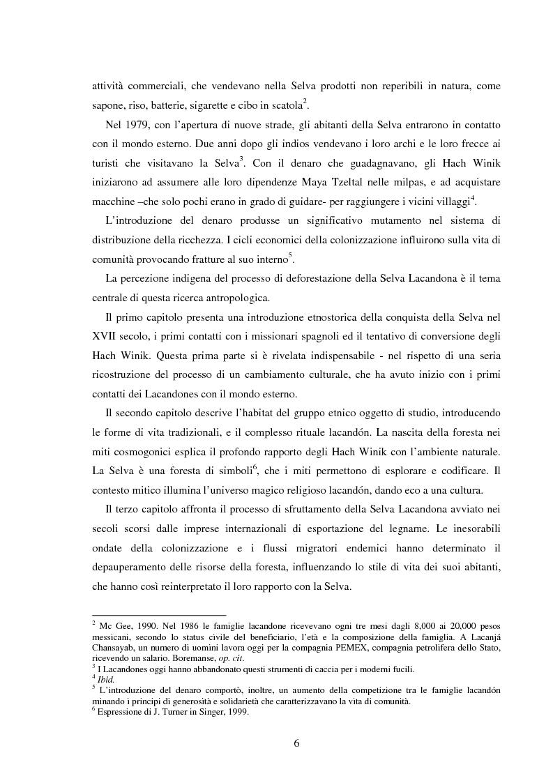 Anteprima della tesi: Gli Indios e la Foresta. Sguardi indigeni sul processo di deforestazione della Selva Lacandona, Pagina 2