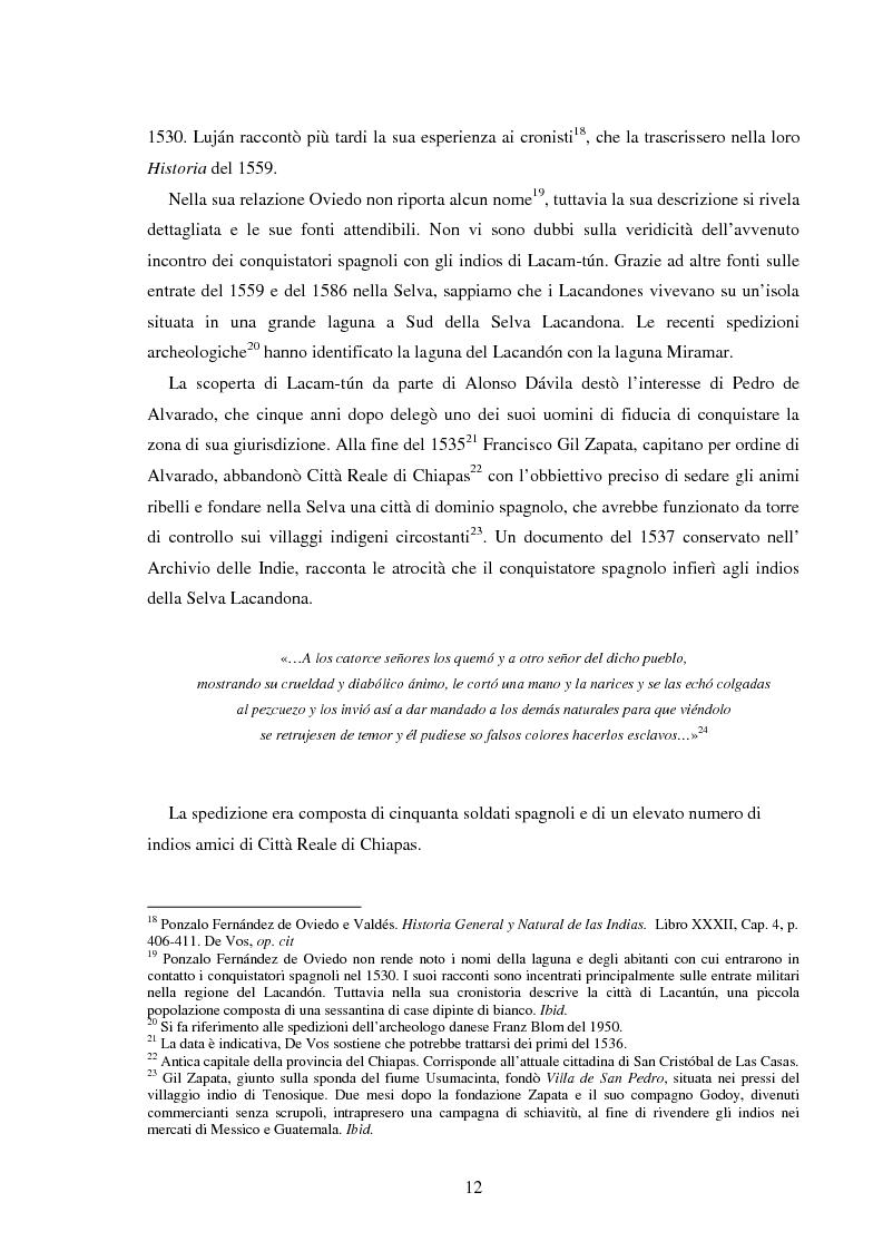 Anteprima della tesi: Gli Indios e la Foresta. Sguardi indigeni sul processo di deforestazione della Selva Lacandona, Pagina 8