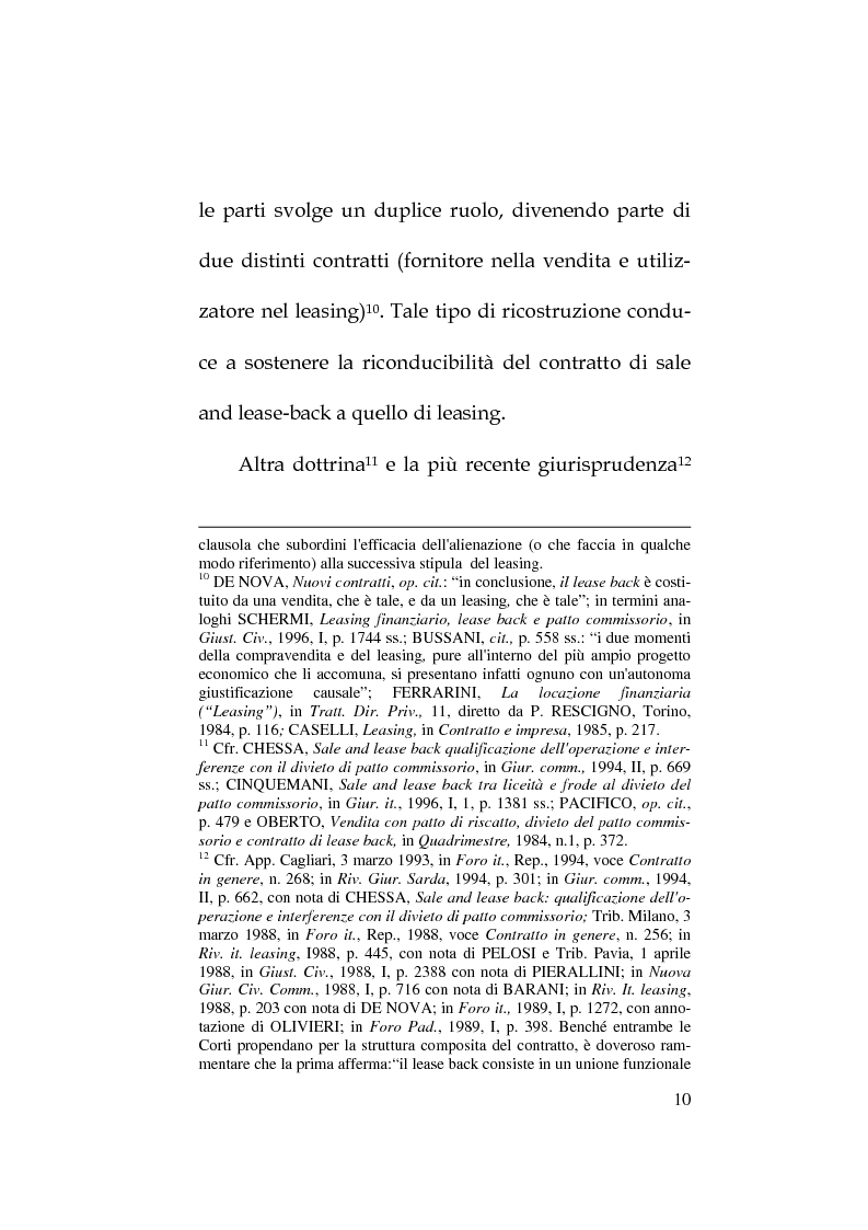 Anteprima della tesi: Il lease-back nel panorama delle P.M.I, Pagina 10