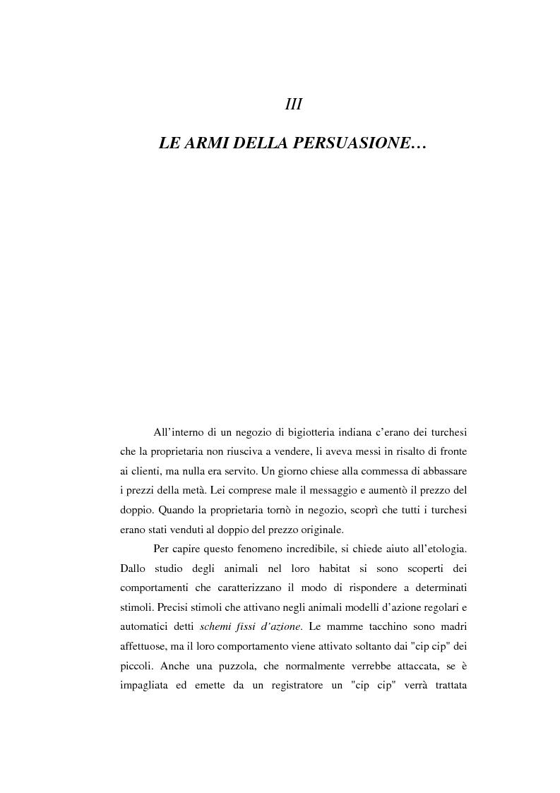 Anteprima della tesi: Strategie persuasive di induzione comportamentale: come ci convincono a dire di si, Pagina 1