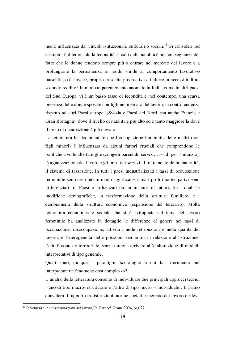 Anteprima della tesi: Lavoro interinale e percorsi familiari: il caso di Casale Monferrato, Pagina 14
