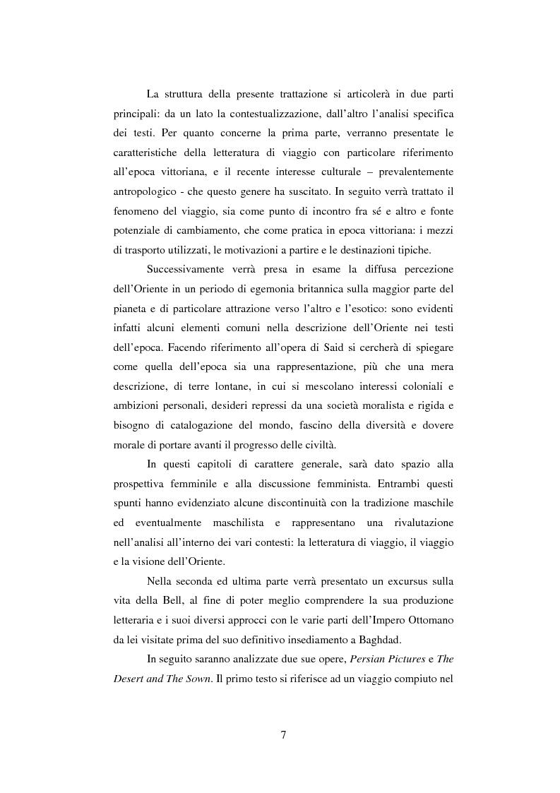Anteprima della tesi: ''The East is full of secrets''. La visione dell'Oriente nei testi di viaggio di Gertrude Bell, Pagina 2