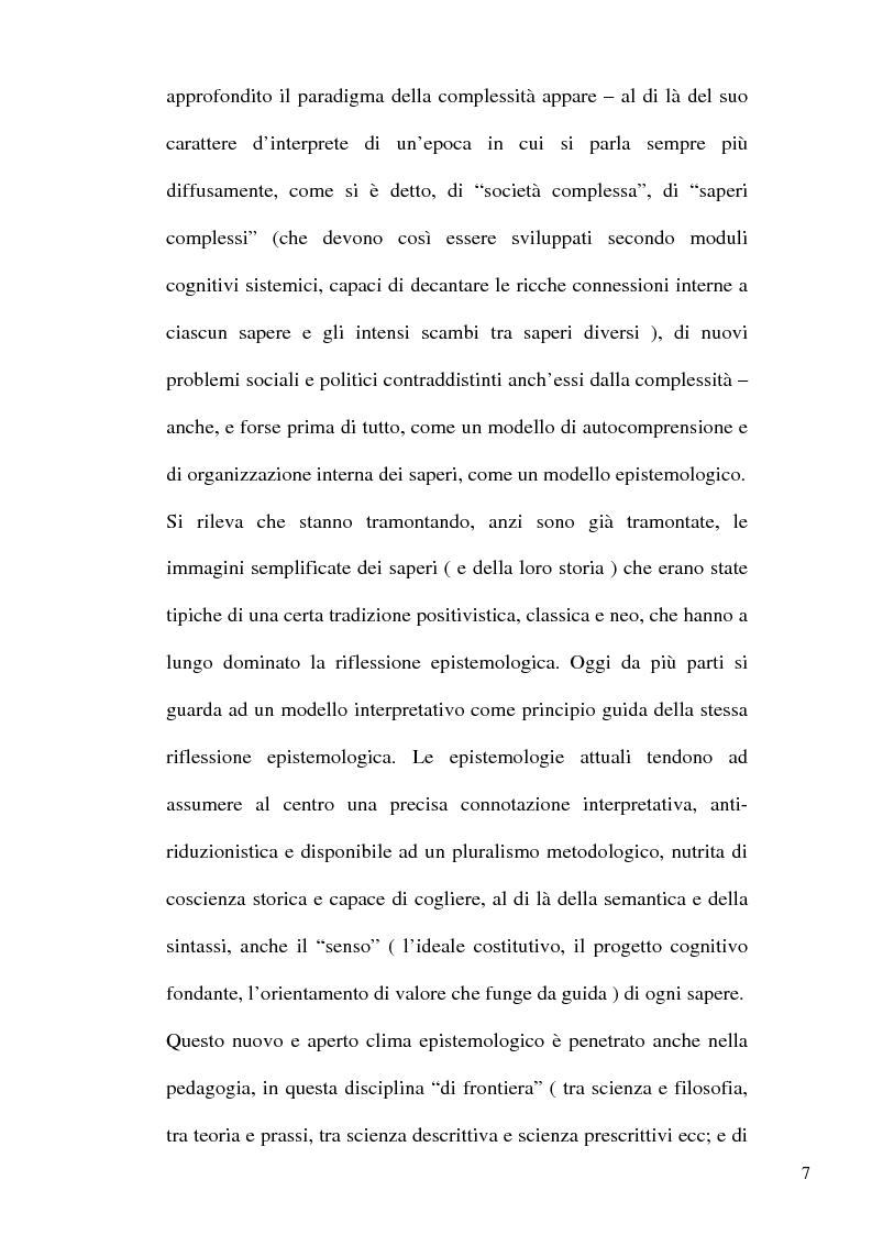 Anteprima della tesi: Nuova epistemologia della complessità e istanze formative, Pagina 4
