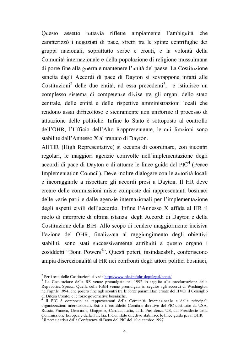 Anteprima della tesi: La Bosnia e Erzegovina nel decennale di Dayton, Pagina 2