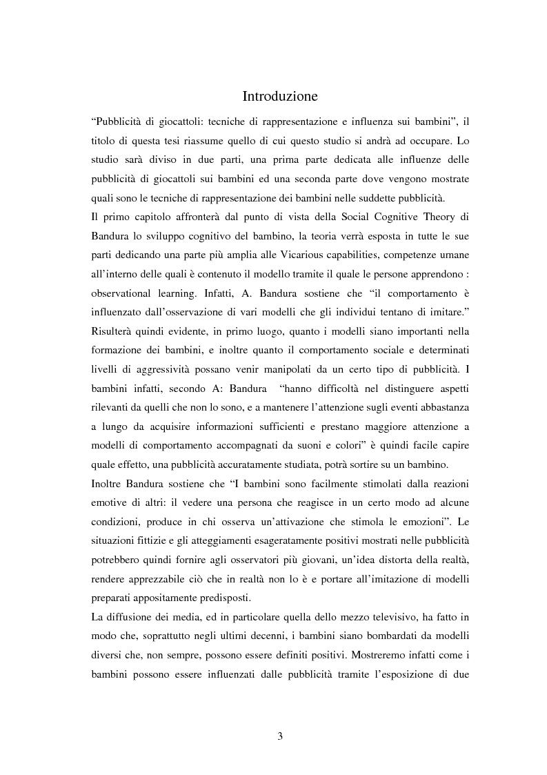 Anteprima della tesi: Pubblicità di giocattoli: tecniche di rappresentazione e influenza sui bambini, Pagina 1