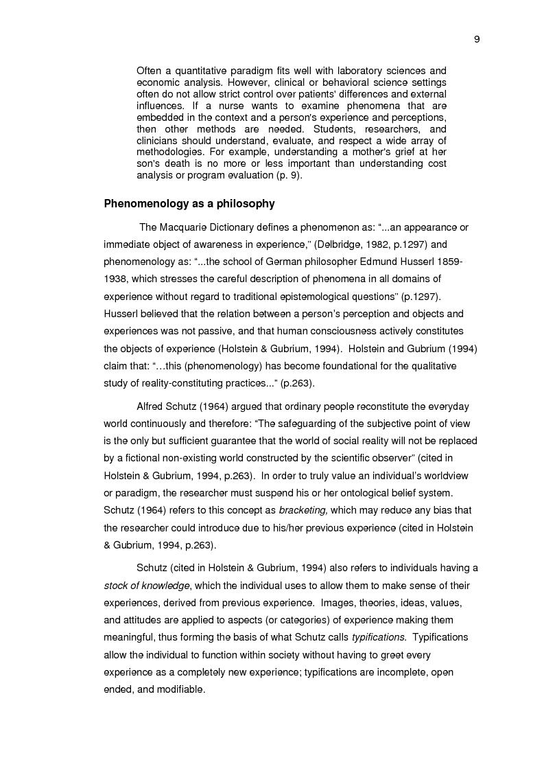Anteprima della tesi: Living beyond the unanticipated sudden death of a partner: a phenomenological study, Pagina 9