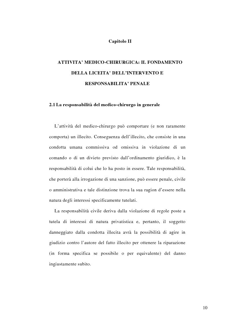 Anteprima della tesi: La colpa medico-chirurgica, Pagina 7