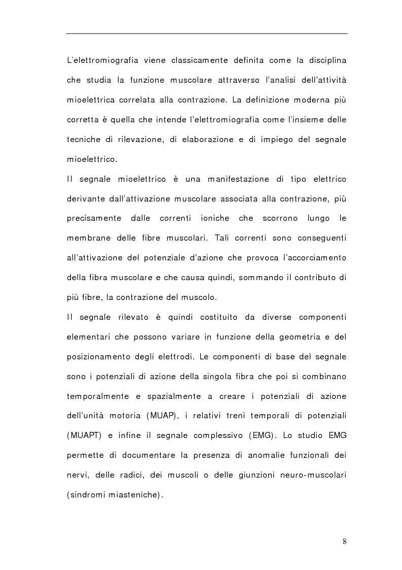 Anteprima della tesi: Progettazione e Realizzazione di un Sistema per l'Acquisizione e l'Elaborazione di un Segnale Elettromiografico, Pagina 1
