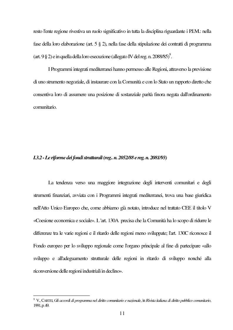 Anteprima della tesi: Il Comitato delle Regioni nell'Unione Europea, Pagina 11