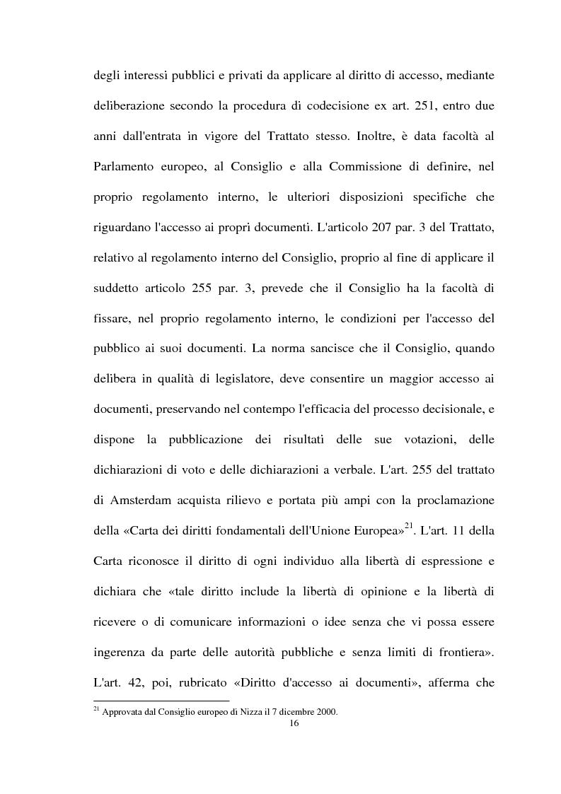 Anteprima della tesi: Il diritto di accesso agli atti e ai documenti presso la Pubblica Amministrazione, Pagina 14
