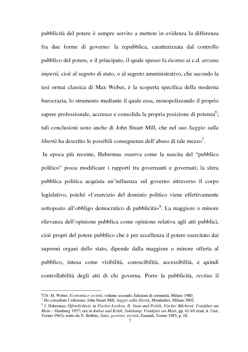 Anteprima della tesi: Il diritto di accesso agli atti e ai documenti presso la Pubblica Amministrazione, Pagina 5