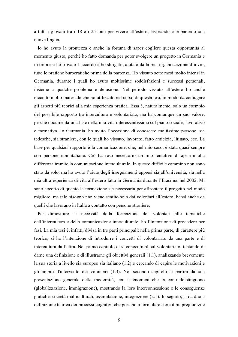 Anteprima della tesi: Intercultura e volontariato. Studio di caso: Servizio Volontario Europeo, Pagina 4